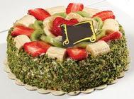 pasta gönder  4 ile 6 kisilik karisik meyvali yas pasta  Niğde hediye çiçek yolla
