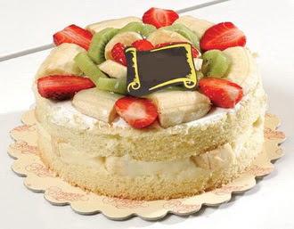 pasta siparisi 4 ile 6 kisilik karisik meyvali yas pasta  Niğde uluslararası çiçek gönderme