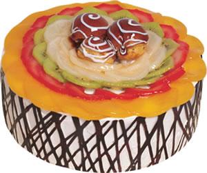 pasta siparisi 4 ile 6 kisilik meyvali yas pasta  Niğde İnternetten çiçek siparişi