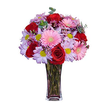 Görsel hediye karisik cam mevsim demeti  Niğde çiçekçi telefonları