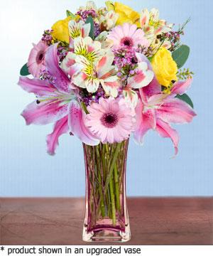 Anneme hediye karisik cam mevsim demeti  Niğde hediye çiçek yolla