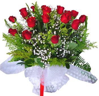 11 adet gösterisli kirmizi gül buketi  Niğde çiçek , çiçekçi , çiçekçilik