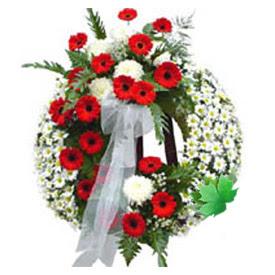 Cenaze çelengi cenaze çiçek modeli  Niğde internetten çiçek siparişi