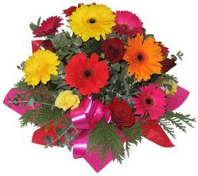 Karisik mevsim çiçeklerinden buket  Niğde cicek , cicekci