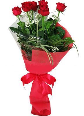 7 adet kirmizi gül buketi  Niğde çiçek mağazası , çiçekçi adresleri