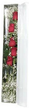 Niğde çiçek satışı   5 adet gülden kutu güller