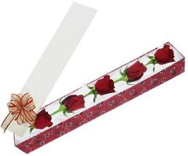 Niğde çiçek , çiçekçi , çiçekçilik  kutu içerisinde 5 adet kirmizi gül