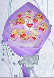 12 adet ayiciktan buket tanzimi  Niğde hediye sevgilime hediye çiçek