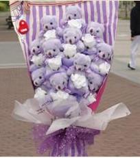 11 adet pelus ayicik buketi  Niğde güvenli kaliteli hızlı çiçek
