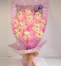 11 adet pelus ayicik buketi  Niğde yurtiçi ve yurtdışı çiçek siparişi