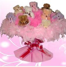 11 adet pelus ayicik buketi  Niğde İnternetten çiçek siparişi