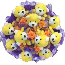 11 adet pelus ayicik buketi  Niğde 14 şubat sevgililer günü çiçek