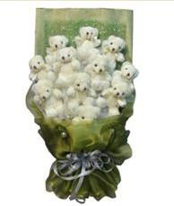 11 adet pelus ayicik buketi  Niğde çiçek siparişi sitesi
