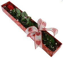 Tek kirmizi gül kutu içerisinde  Niğde hediye sevgilime hediye çiçek