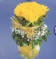 Niğde online çiçek gönderme sipariş  Cam vazoda 9 Sari gül