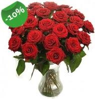 Vazo içerisinde 25 adet kırmızı gül  Niğde internetten çiçek satışı