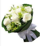 9 adet beyaz gül buketi  Niğde çiçek satışı