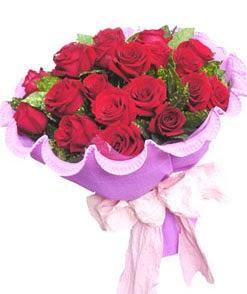 12 adet kırmızı gülden görsel buket  Niğde çiçekçi telefonları