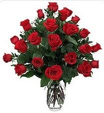 Niğde çiçek satışı  24 adet kırmızı gülden vazo tanzimi