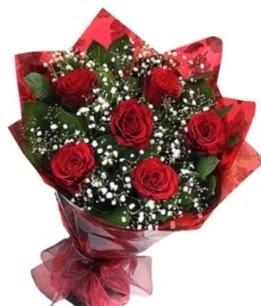 6 adet kırmızı gülden buket  Niğde çiçek online çiçek siparişi