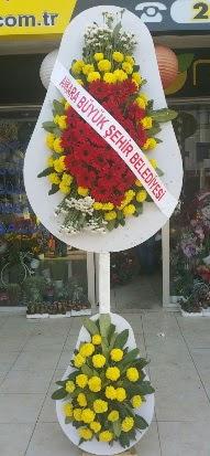 Çift katlı düğün nikah açılış çiçek modeli  Niğde çiçekçi telefonları