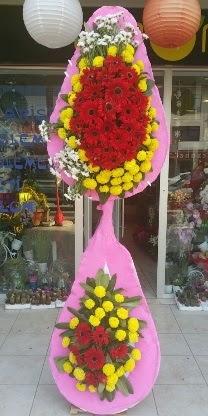 Çift katlı düğün nikah açılış çiçek modeli  Niğde ucuz çiçek gönder