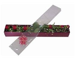 Niğde online çiçek gönderme sipariş   6 adet kirmizi gül kutu içinde