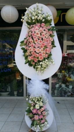 Çift katlı özel şahane sepet çiçeği  Niğde çiçek yolla , çiçek gönder , çiçekçi
