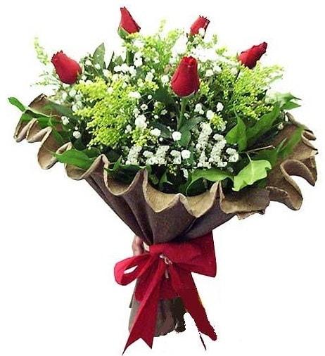 5 adet gülden buket  Niğde güvenli kaliteli hızlı çiçek