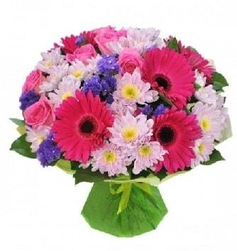 Karışık mevsim buketi mevsimsel buket  Niğde İnternetten çiçek siparişi