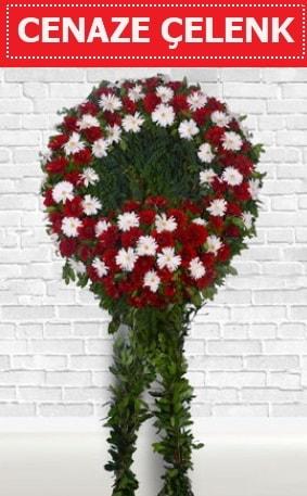 Kırmızı Beyaz Çelenk Cenaze çiçeği  Niğde kaliteli taze ve ucuz çiçekler