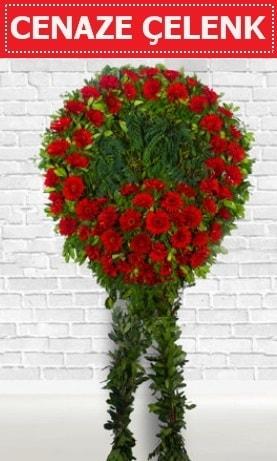 Kırmızı Çelenk Cenaze çiçeği  Niğde kaliteli taze ve ucuz çiçekler