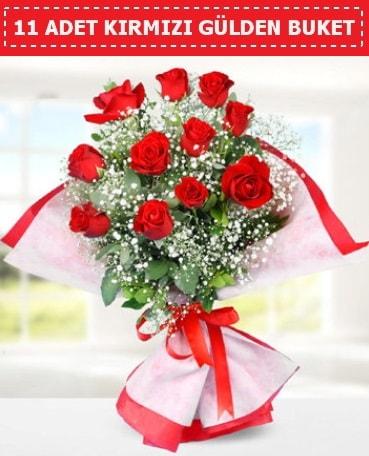 11 Adet Kırmızı Gül Buketi  Niğde hediye çiçek yolla