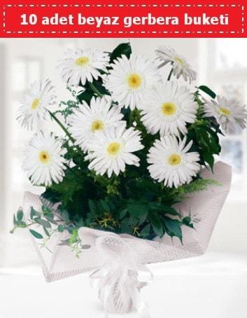 10 Adet beyaz gerbera buketi  Niğde çiçek gönderme sitemiz güvenlidir