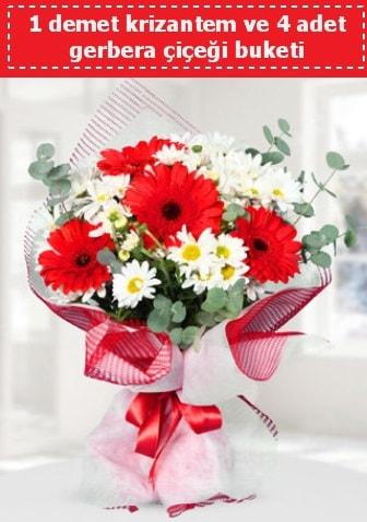 Krizantem ve Gerbera Buketi  Niğde çiçek satışı