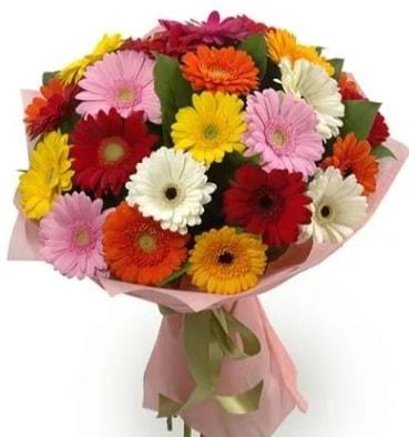 Karışık büyük boy gerbera çiçek buketi  Niğde İnternetten çiçek siparişi