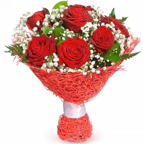 7 adet kırmızı gül buketi  Niğde ucuz çiçek gönder