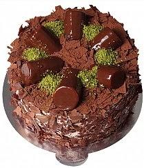 9 ile 12 Kişilik Çikolatalı Muzlu yaş pasta